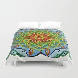 Fire Renewal Mandala Celtic Knot Mandala Art Duvet Cover