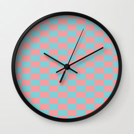 Pink spring pattern Wall Clock