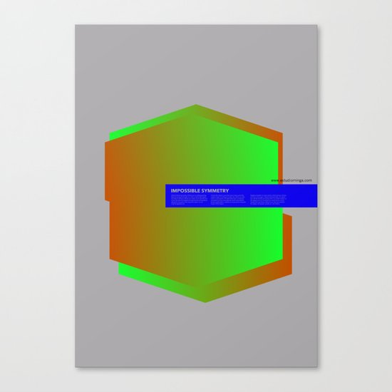 Impossible Symmetry - Ex Canvas Print
