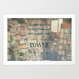 The power of books - Book Quote Collection Art Print