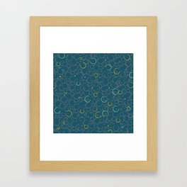 Coffee Stains Squibbles Framed Art Print