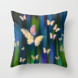 Silken Wings Throw Pillow