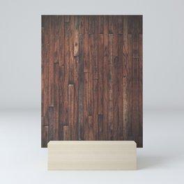 Cherry Stained Wood Barn Board Texture Mini Art Print