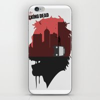 walking dead iPhone & iPod Skins featuring Walking Dead by SirGabi