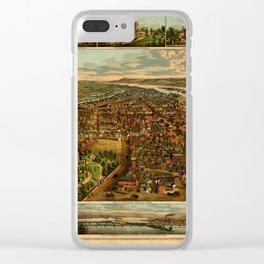 Harrisburg Panorama 1885 Clear iPhone Case