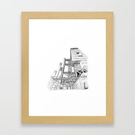 Offices Building project Framed Art Print