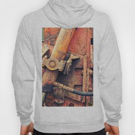 Old rusty iron piece Hoody