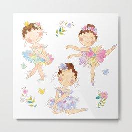 cute ballerinas Metal Print