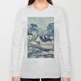 "Vincent van Gogh ""Landscape with Houses"" Long Sleeve T-shirt"