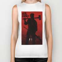 evil dead Biker Tanks featuring The Evil Dead by Bill Pyle