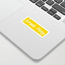 Simply Happy Sticker Sticker