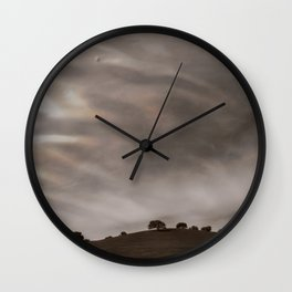 the sky is acting funny Wall Clock