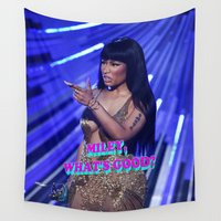miley Wall Tapestries featuring MILEY WHAT'S GOOD? by Nicki Minaj Spain
