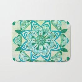 Simpe Blue/Green Mandala Bath Mat