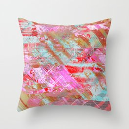 Confidence - Abstract, textured oil painting Throw Pillow