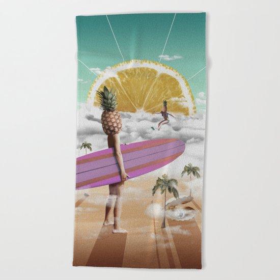 Sweet Surfing Beach Towel