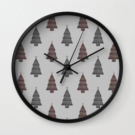 ornamental! red sm. Wall Clock