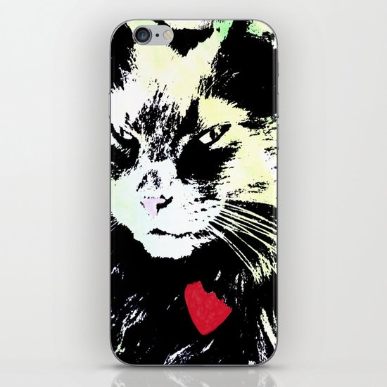 Key lime kitty iPhone & iPod Skin