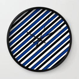 TEAM COLORS 1…Black, navy and white team  colors Wall Clock