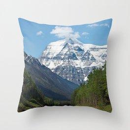 Mount Robson Photography Print Throw Pillow