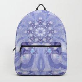 Light Blue, Lavender & White Floral Mandala Backpack