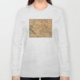Vintage Alaska Board Game Map (1897) Long Sleeve T-shirt