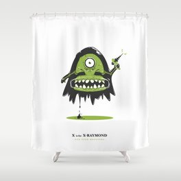 X is for X-Raymond Shower Curtain