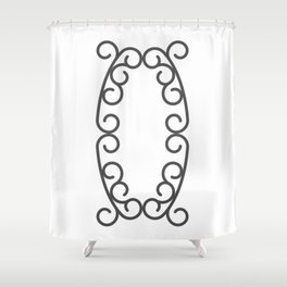 """Letter """"O"""" in beautiful design Fashion Modern Style Shower Curtain"""