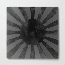 Black Japan Empire Flag Metal Print
