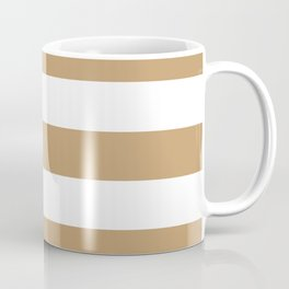 Fallow - solid color - white stripes pattern Coffee Mug