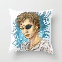 pen Throw Pillows featuring Pen by laya rose
