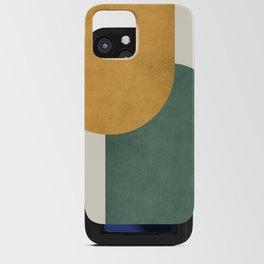 Halfmoon Colorblock 2 - Gold Green  iPhone Card Case