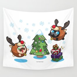 Poopie and Doopie - Merry Christmas! Wall Tapestry