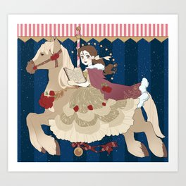 Carousel: Head in the Clouds  Art Print