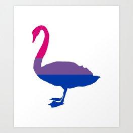 Bi Pride Swan Art Print