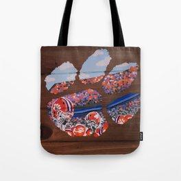 Clemson Tiger Paw Tote Bag