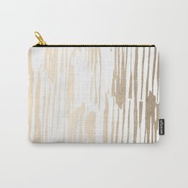 White Gold Sands Thin Bamboo Stripes Carry-All Pouch