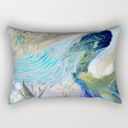 On the edge of discovery Rectangular Pillow