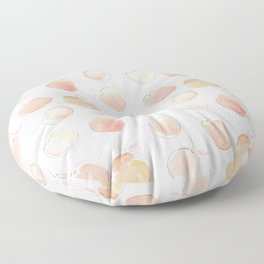 Summer Peaches Fruit Pattern Floor Pillow