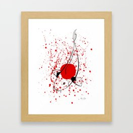 Bleeding Japan Framed Art Print