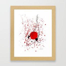 Bleeding Japan Framed Art Print