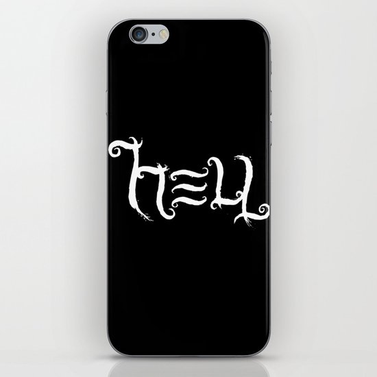 Raise HELL (Black) iPhone & iPod Skin