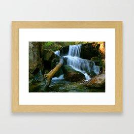 Waterfall of Queimadela Framed Art Print