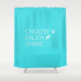 Choose Vegan Shower Curtain