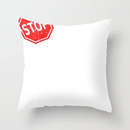 Stop Drinking   Support Sober Living Throw Pillow