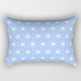 Cold Blue Geometric Flowers and Florals Isosceles Triangle Rectangular Pillow