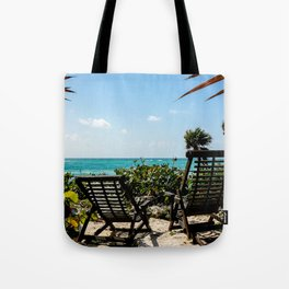 Tulum Chairs Tote Bag
