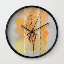 The orange feather Wall Clock