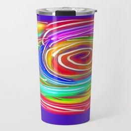 neon rose Travel Mug