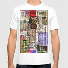 MY NAME IS CHAOS White Mens Fitted Tee SMALL